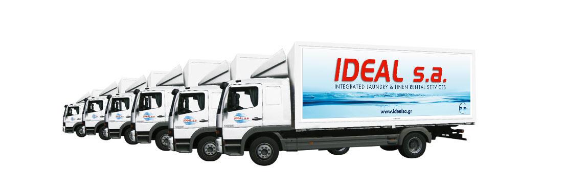 Ideal S.A. - Imatel - Υπηρεσίες ενοικίασης, πλύσης και απολύμανσης ξενοδοχειακού ή άλλου επαγγελματικού ιματισμού.